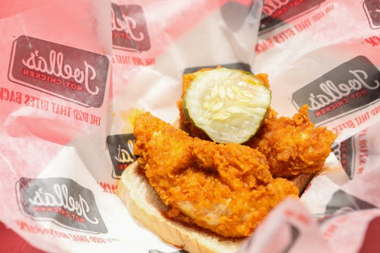 Joella's Hot Chicken Tenders at Taste of Cincinnati.