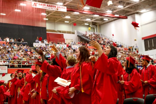 410 seniors from Rossview High School walked in front of friends and loved ones at the Dunn Center in Clarksville, Tenn., on Friday, May 24, 2019.