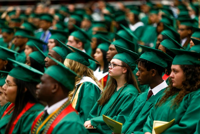 Hundreds of Northwest High School students were accepted as graduates and walked the stage to receive diplomas while being cheered on by loved ones at the Winfield Dunn Center in Clarksville, Tenn., on Saturday, May 25, 2019.