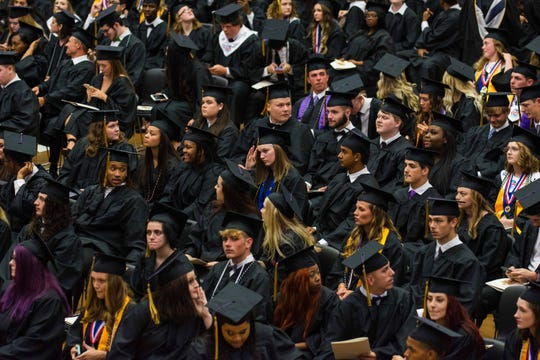 More than 320 seniors received their diplomas at Clarksville High School's graduation at the Austin Peay State University Dunn Center on May 24, 2019.
