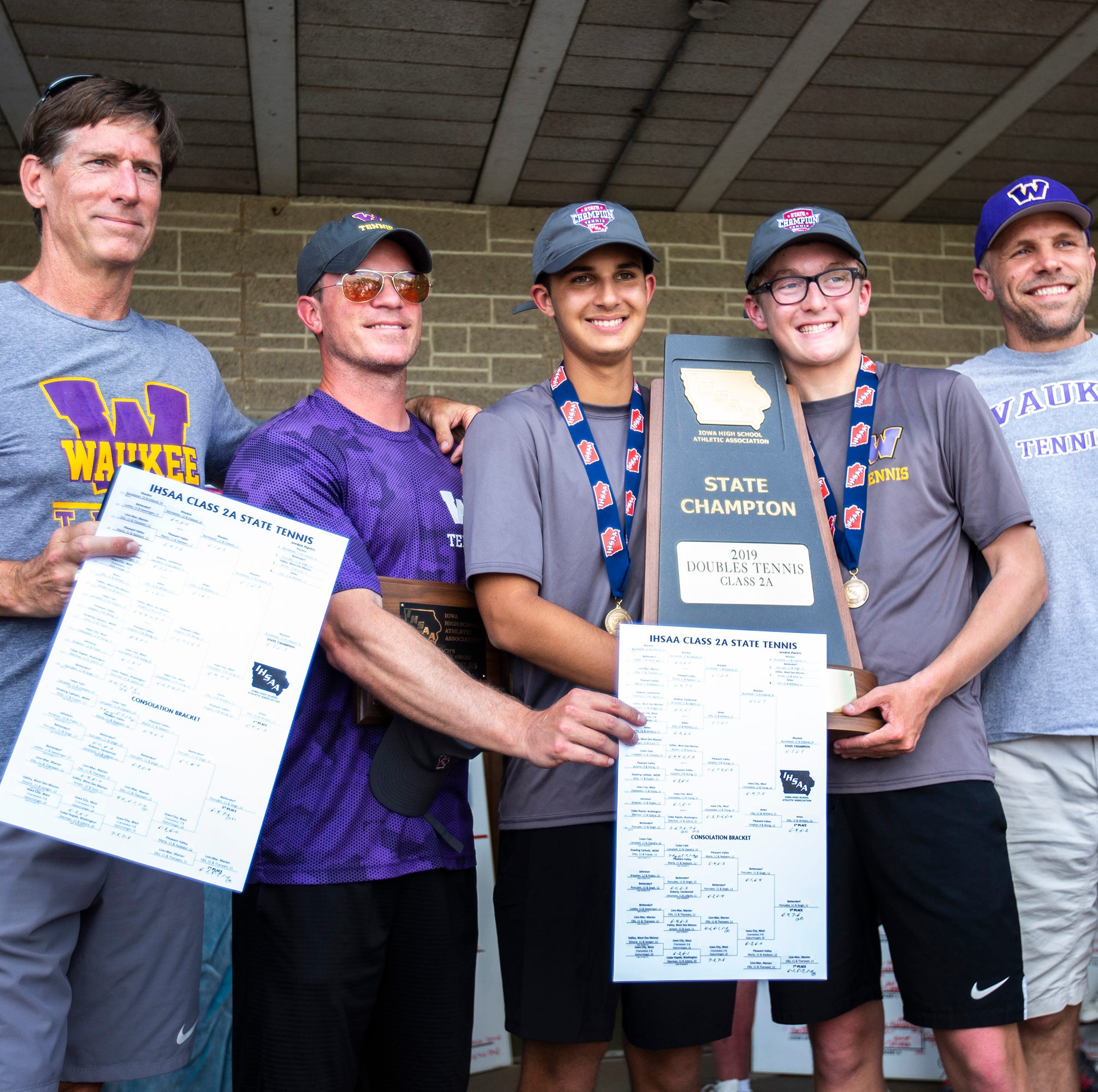 State tennis: Waukee, Norwalk duos win doubles championships