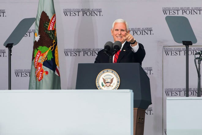 "Pence congratulated the West Point graduates on behalf of President Donald Trump, and told them, ""As you accept the mantle of leadership I promise you, your commander in chief will always have your back. President Donald Trump is the best friend the men and women of our armed forces will ever have."""