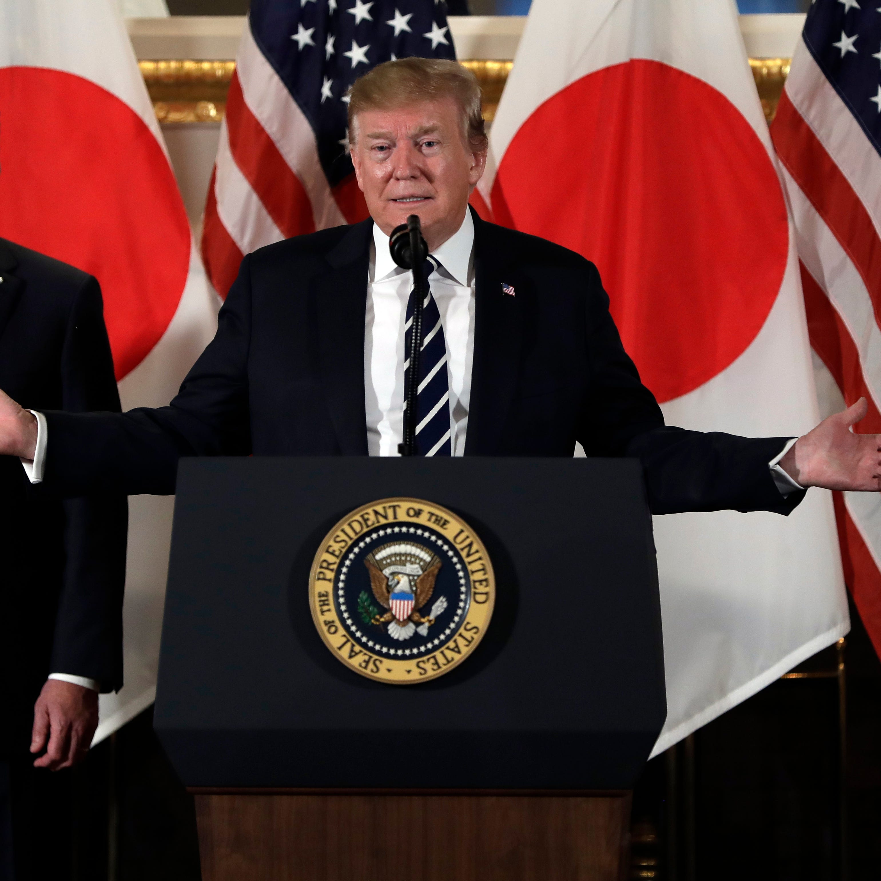 Trump opens visit by needling Japan over trade imbalance