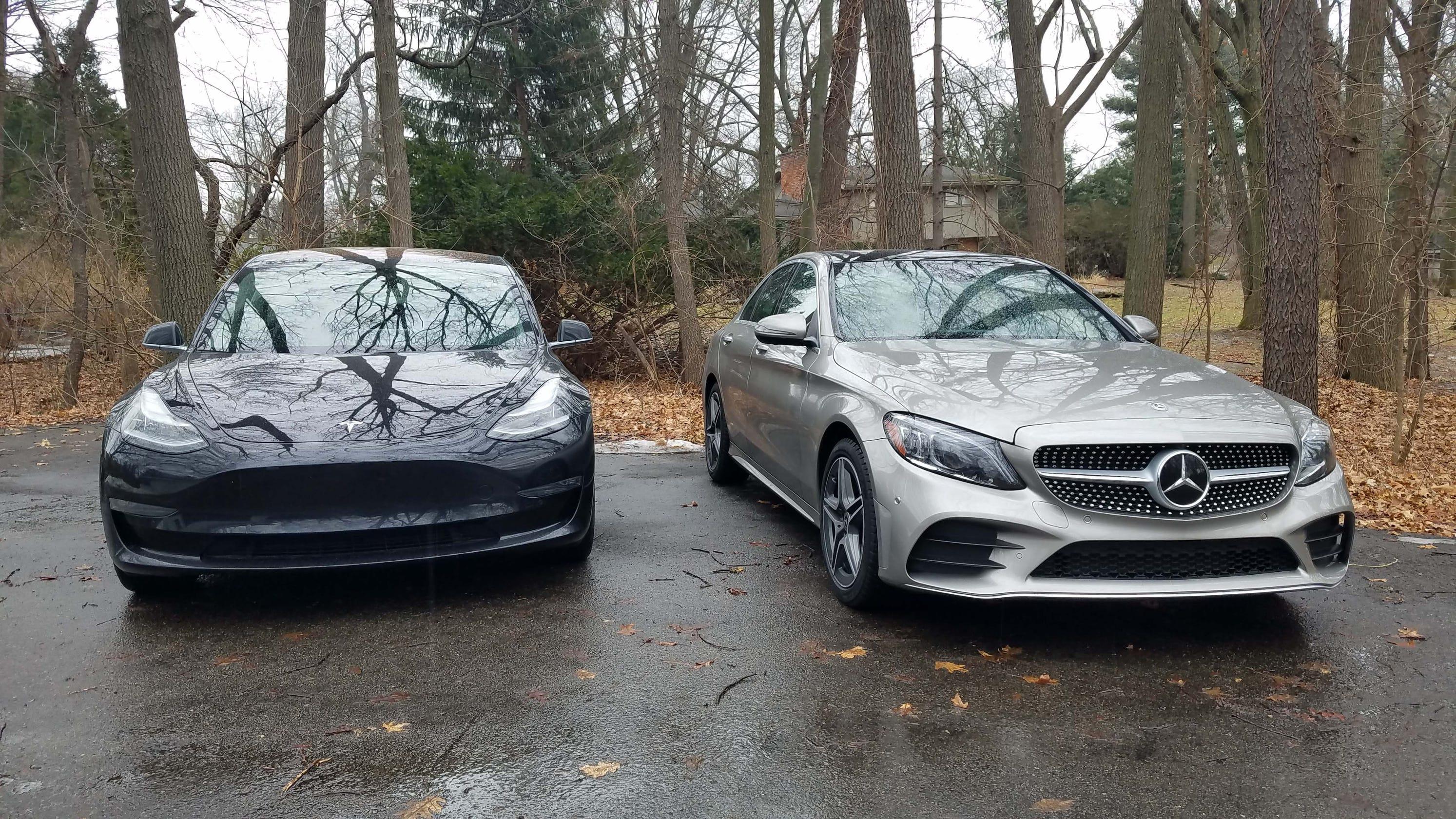 Payne: Old world Mercedes C300 vs  new age Tesla Model 3