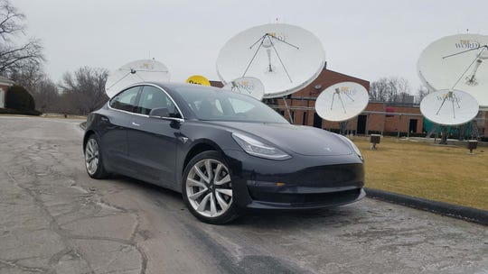 The 2019 Tesla Model 3 boasts 271 horsepower from an 80.5 kWh battery and single speed electric motor driving the rear wheels.