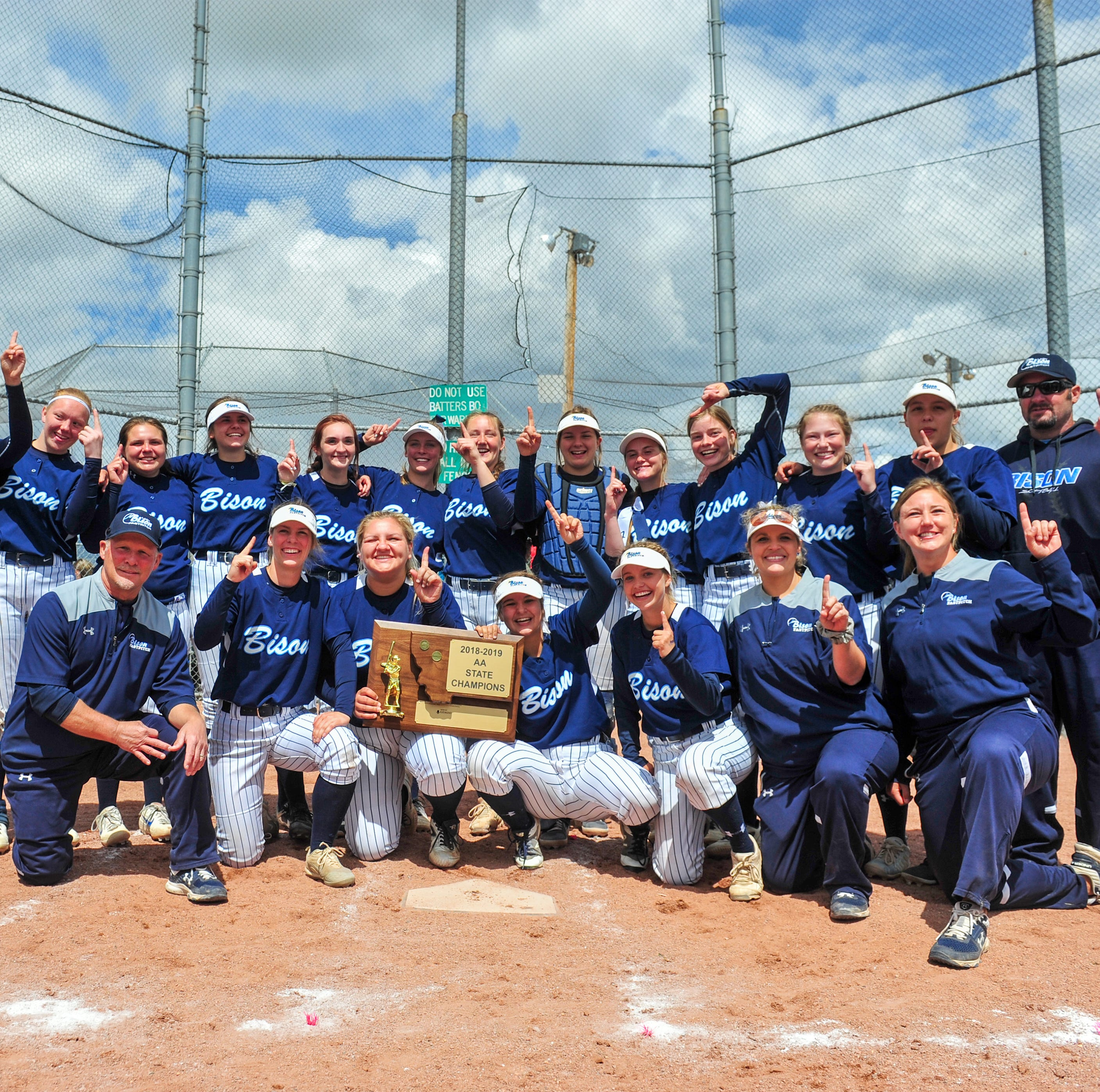 UPDATE: Bison softball team repeats as Class AA champs