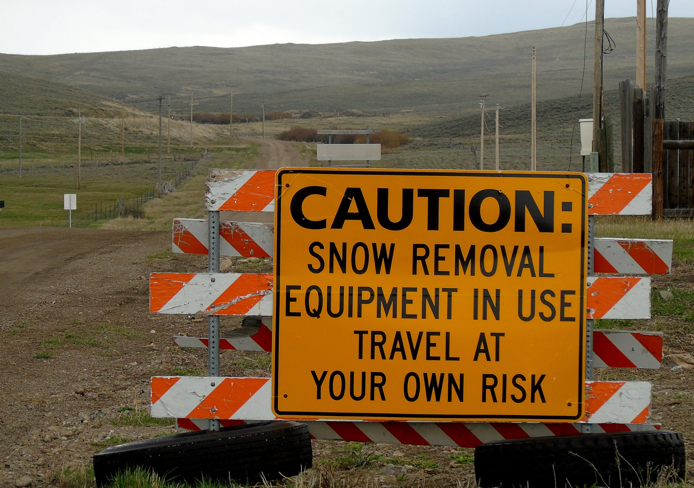 "A sign in Monida warns about traveling into the Centennial Valley ""at your own risk."" The remote valley is southeast of Dillon."