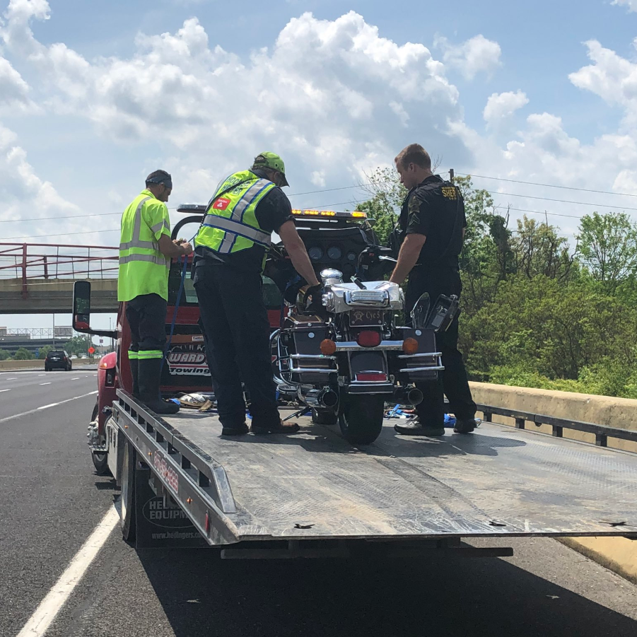 Marion County deputy crashes motorcycle while escorting Corvettes to Indianapolis Motor Speedway