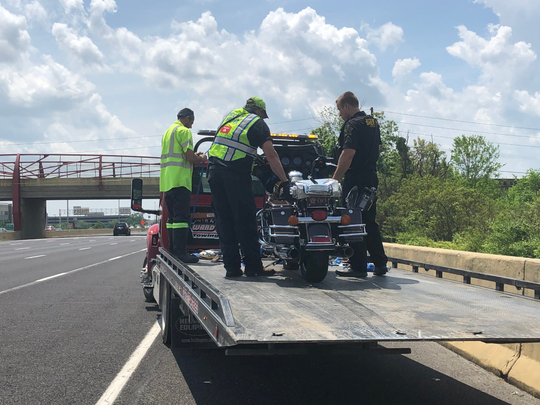 "A Marion County sheriff's deputy was injured in a motorcycle crash on the northwest side on May 25, 2019. The deputy is in ""fair condition,"" according to Capt. Kenny Sanders with the Sheriff's Office."
