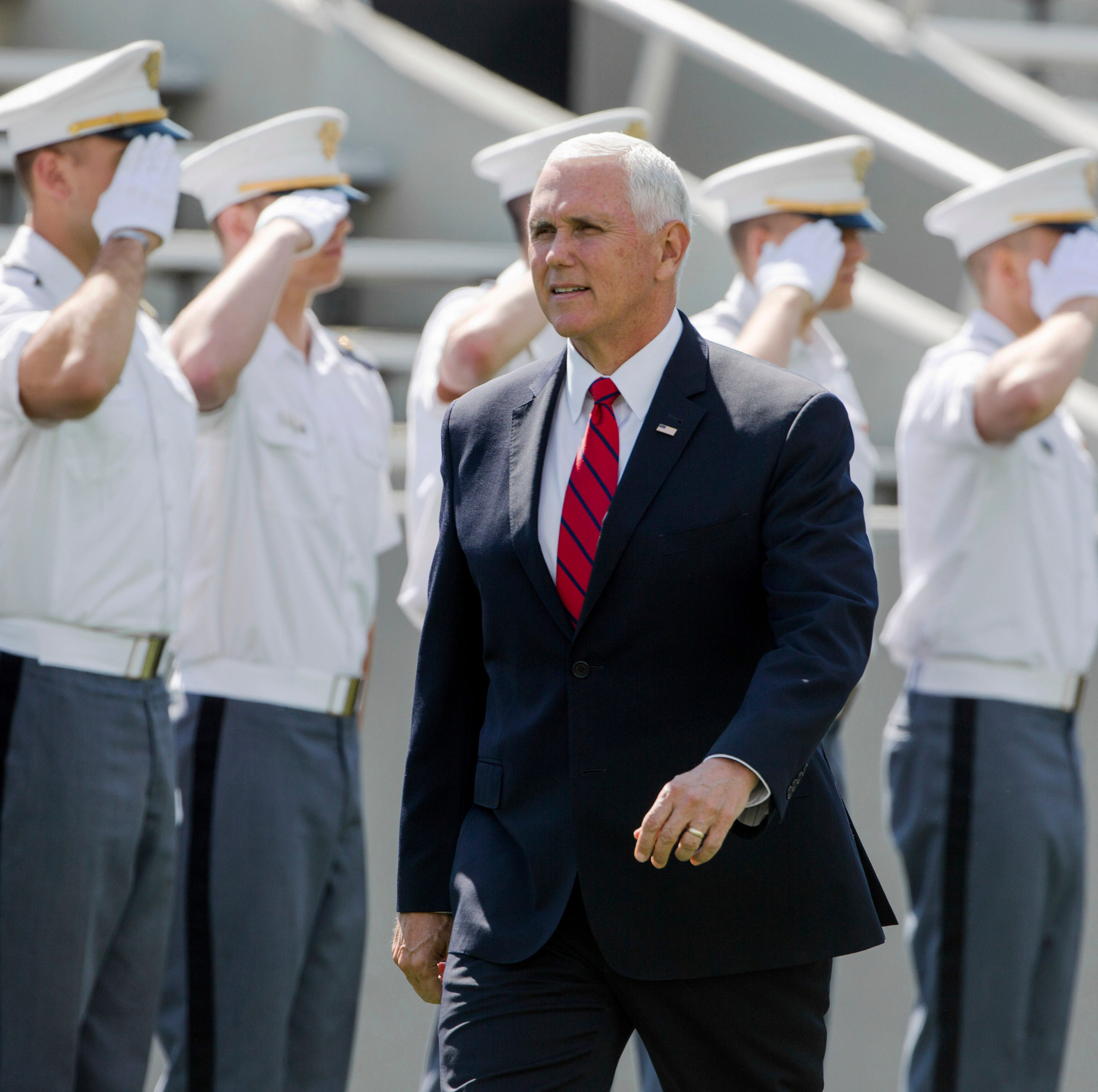 Mike Pence, speaking at West Point, calls Trump 'the best friend' US military 'will ever have'