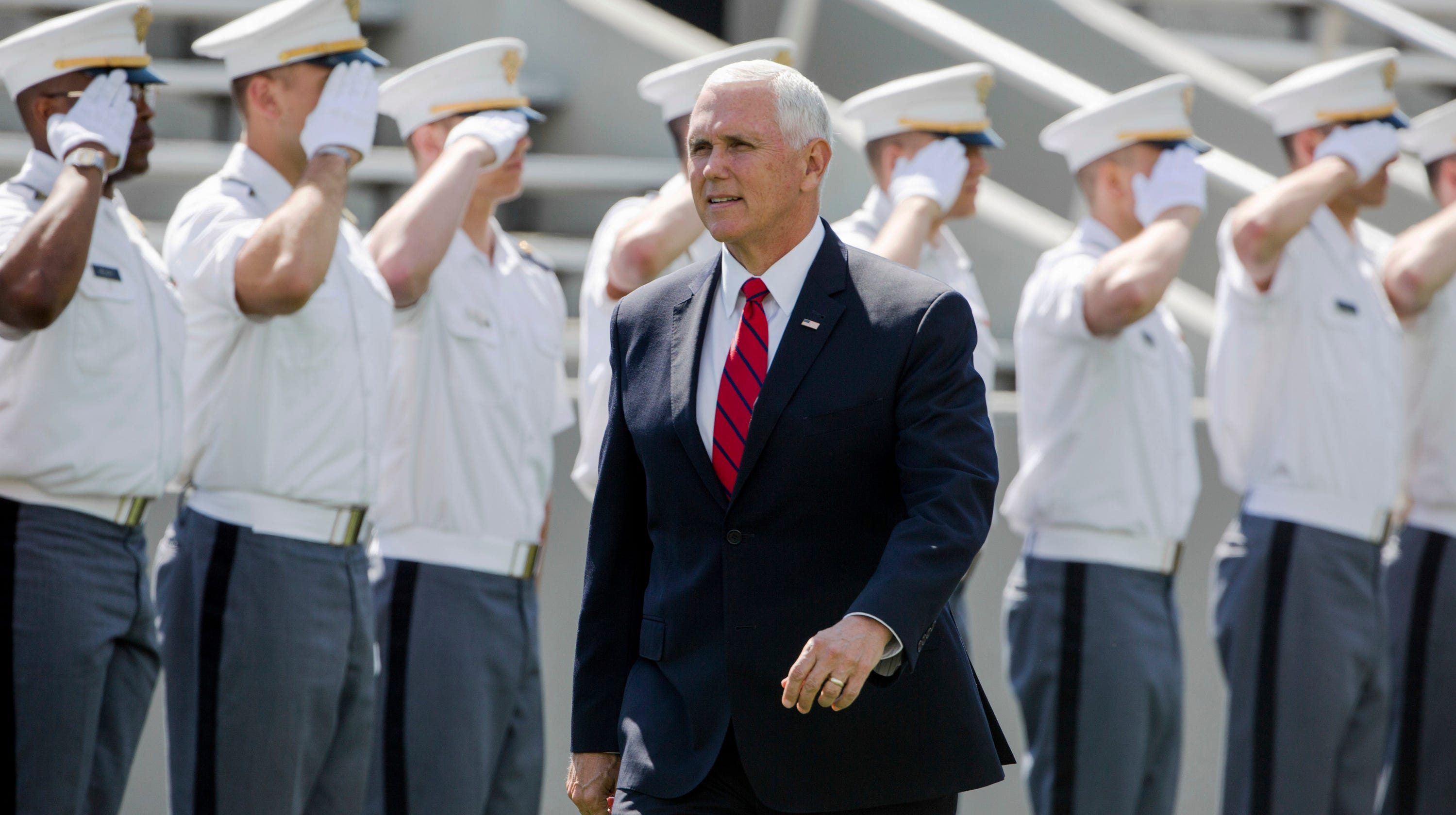f76090813db Mike Pence, speaking at West Point, calls Trump 'the best friend' US  military 'will ever have'