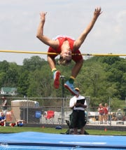 Shelby's Uriah Schwemley is looking for a repeat state high jump championship.