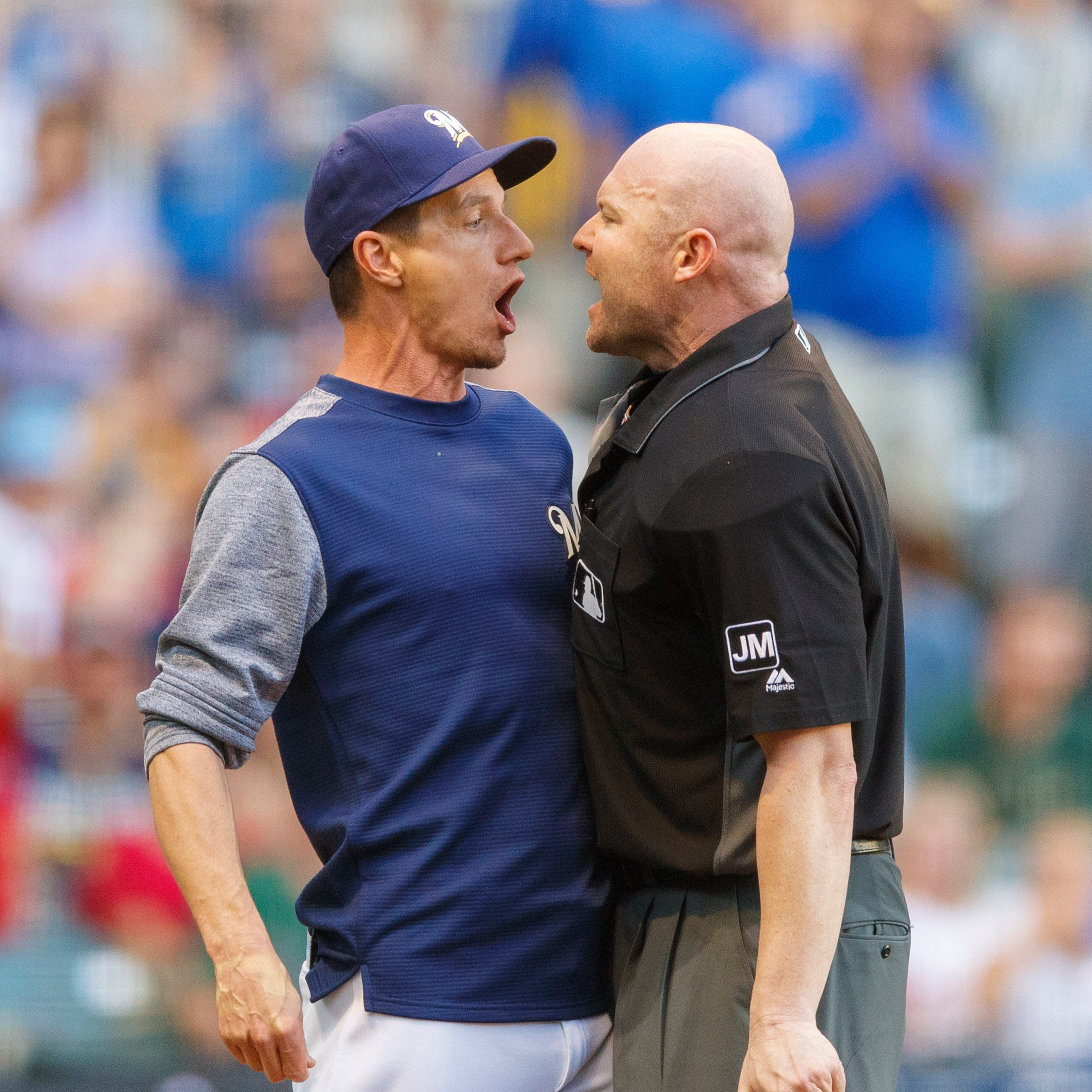 Brewers say home plate umpire robbed them of a chance to pull out victory over Phillies
