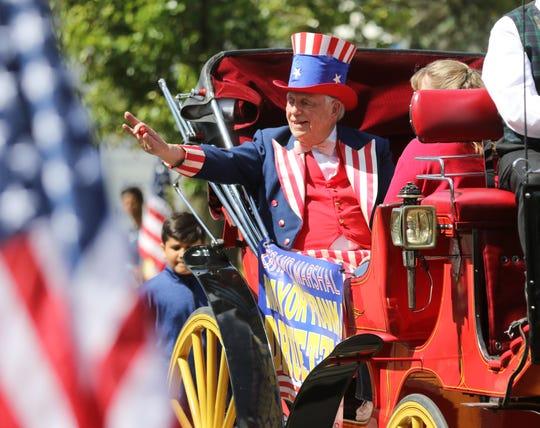 Former Morris Plains Mayor from 1987-2018 Frank Druetzler was Grand Marshal of the parade.
