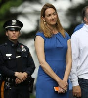 Congresswoman Mikie Sherrill was in attendance at the wreath laying ceremony. She defeated Assemblyman Jay Webber who also attended the ceremony.