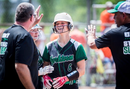FILE -- Yorktown advanced in semi-state competition with a 15-3 win against Hanover Central. The Tigers used a couple big innings offensively to put the game out of reach.