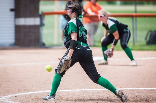 FILE -- Kaylyn Coahran pitched a complete game for Yorktown and helped the Tigers win a regional title against Bellmont. The team had complete confidence in her ability to help the team advance.