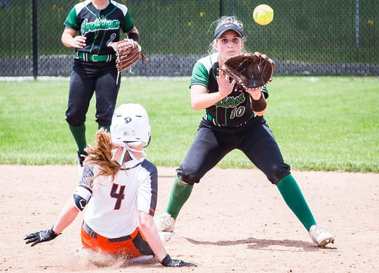 FILE -- Yorktown's Lexie Robertson earned All-HHC recognition alongside some of her teammates. The Tigers have won sectional, regional and semi-state championships this season.