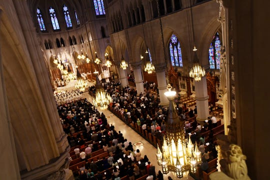 The Newark Archdiocese ordains new priests at the Cathedral Basilica of The Sacred Heart on Saturday, May 25, 2019.