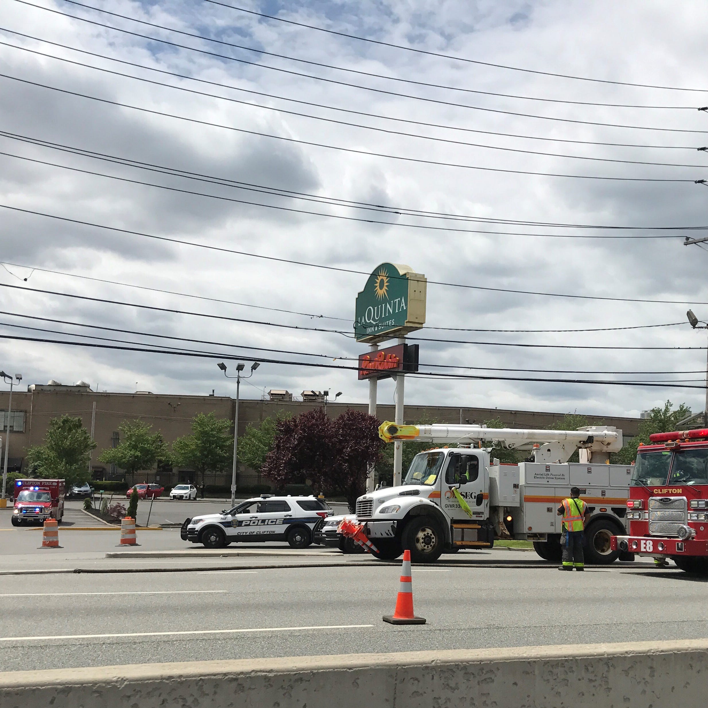 Route 3 east clear in Clifton after downed wires cause delays