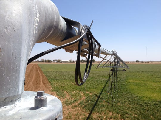 A New Mexico State University scientist has proposed using center pivot irrigation equipment in a different way — using circular buffer strips — that would reduce the wind's drying effect on cropland.
