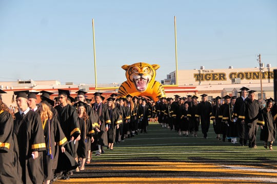Alamogordo High School 2019 Graduation was on May 24 at Tiger Stadium.