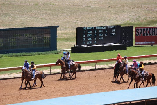Two-year old  quarter horses take the track at Ruidoso Downs for the Futurity Trials.