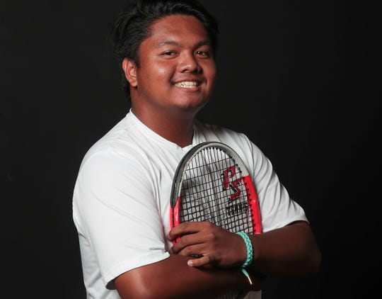 Palm Springs High School tennis star Michael Cabacungan, May 23, 2019.