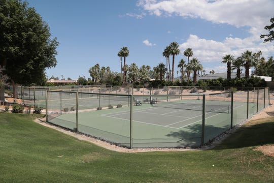 The Springs Club has both hard and clay tennis courts, Rancho Mirage, Calif., May 25, 2019.