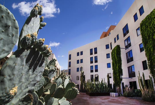 Harrah's Ak-Chin Hotel and Casino in Maricopa is celebrating 25 years.  The is the cactus garden.