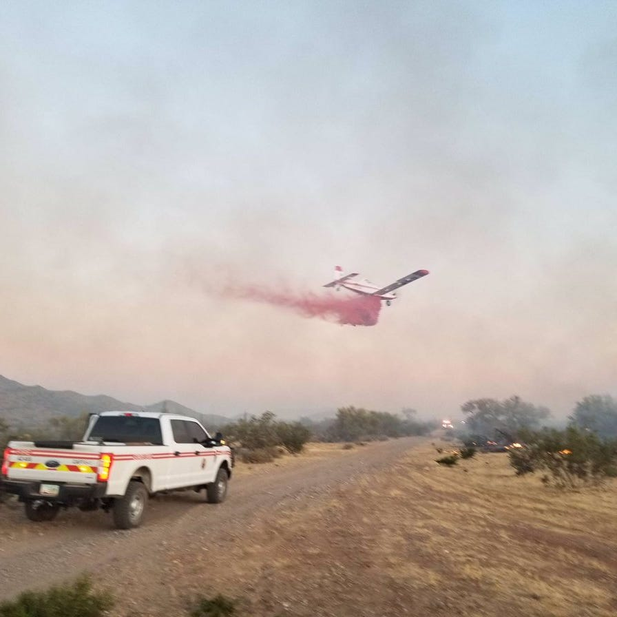 Dove Fire burns 1,000 acres near Surprise