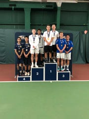 Cedar Crest's Jack Muraika and Dylan Tull took third place in the PIAA 3A Doubles Championships on Saturday at Hershey Racquet Club.