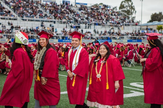 2019' Hartnell College Commencement at the Rabobank Stadium in Salinas.