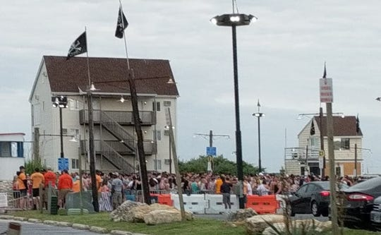 It's Memorial Day weekend, and the lines at Seacrets in Ocean City show it.