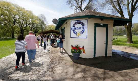 An overall of der Sheboygan Biergarten at Kiwanis Park, Saturday, May 25, 2019, in Sheboygan, Wis.
