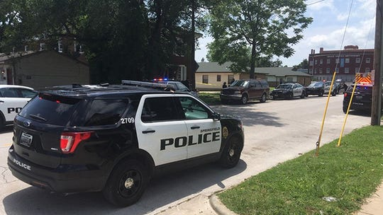 The scene of a stabbing Saturday, May 25, 2019, on Cherry Street east of Kimbrough in Springfield.