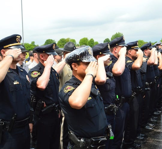 Peace officers from around southwest Missouri gathered Thursday in Springfield for the annual Peace Officers' Memorial Service to honor those who lost their lives in the line of duty.