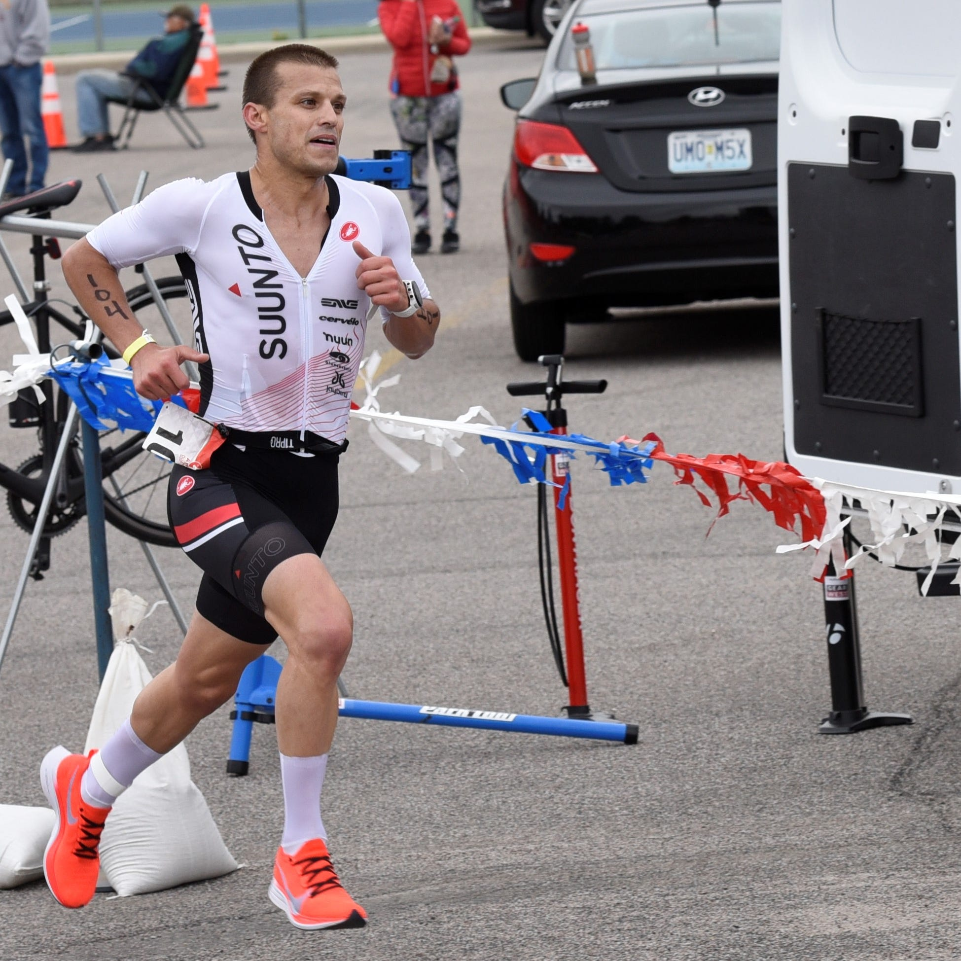 A good day for a duathlon for men's champ
