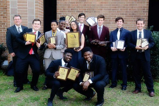 Members of TCC's award-winning forensics team.