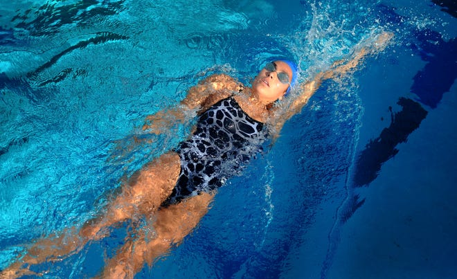 After winning a CIF-SS Division 1 title in her sophomore season, Ventura High's Tea Laughlin set a Division 3 record in winning another individual title in the 100-yard backstroke to complete her junior season.