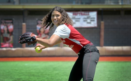 In her final season at Oaks Christian, Maya Brady hit .558 and led the area in home runs (12), slugging (1.143) and runs scored (36) from the leadoff spot.