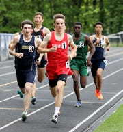Tappan Zee's Patrick Castellano competes in the 800 meter run during the Section 1 Class B Track & Field Championships at Pearl River High School, May 25, 2019.