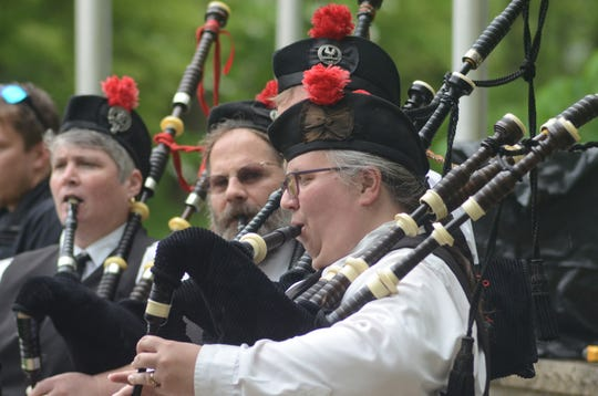The Kalamazoo Area Pipers played Amazing Grace at the ceremony.