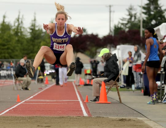 North Kitsap's Alyssa Cullen took home four medals at the Class 2A state track and field championships as a sophomore.