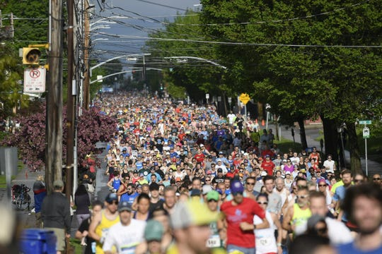 The Burlington marathon brings a lot of business to Church Street, and will be sorely missed if it's cancelled this year because of the coronavirus pandemic.