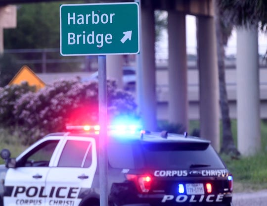 A major traffic accident has shut down the northbound lanes on the Harbor Bridge, Saturday, May 25, 2019.