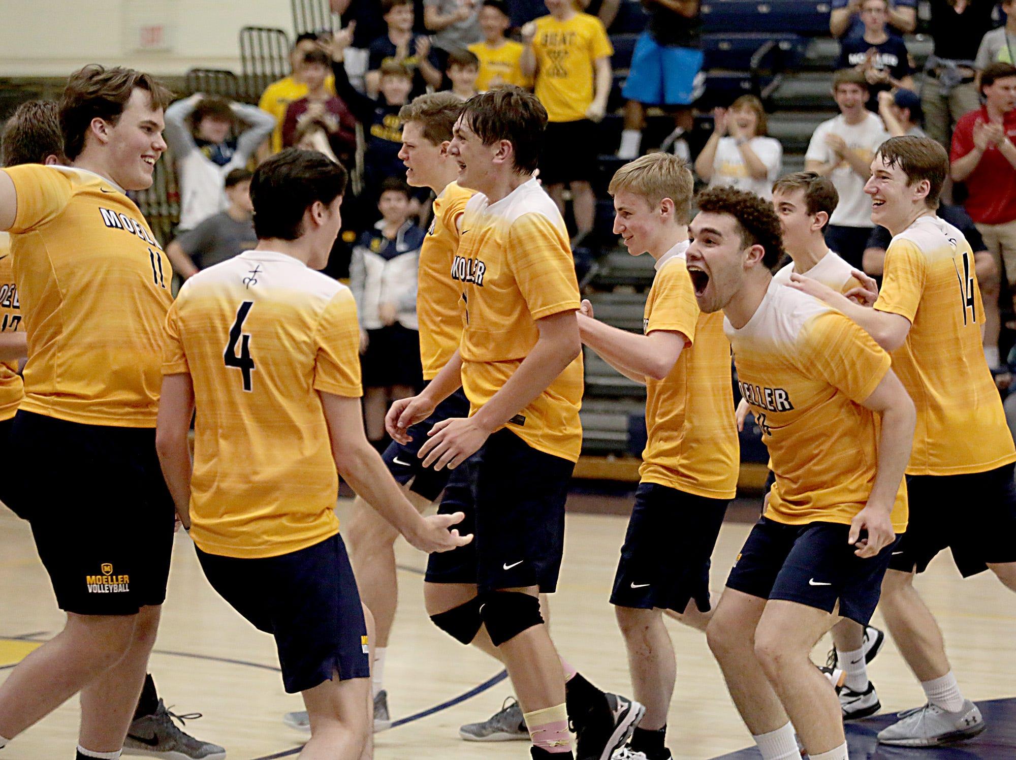 PHOTOS: St. Xavier, Moeller, La Salle win volleyball regional finals, as did Lakota East