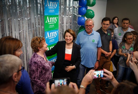 United States Sen. and democratic presidential candidate hopeful Amy Klobuchar (D-Minn) spent her birthday touring across Iowa before stopping at Jasper Winery in Des Moines, where she spoke to hundreds of supporters on Saturday, May 25, 2019.