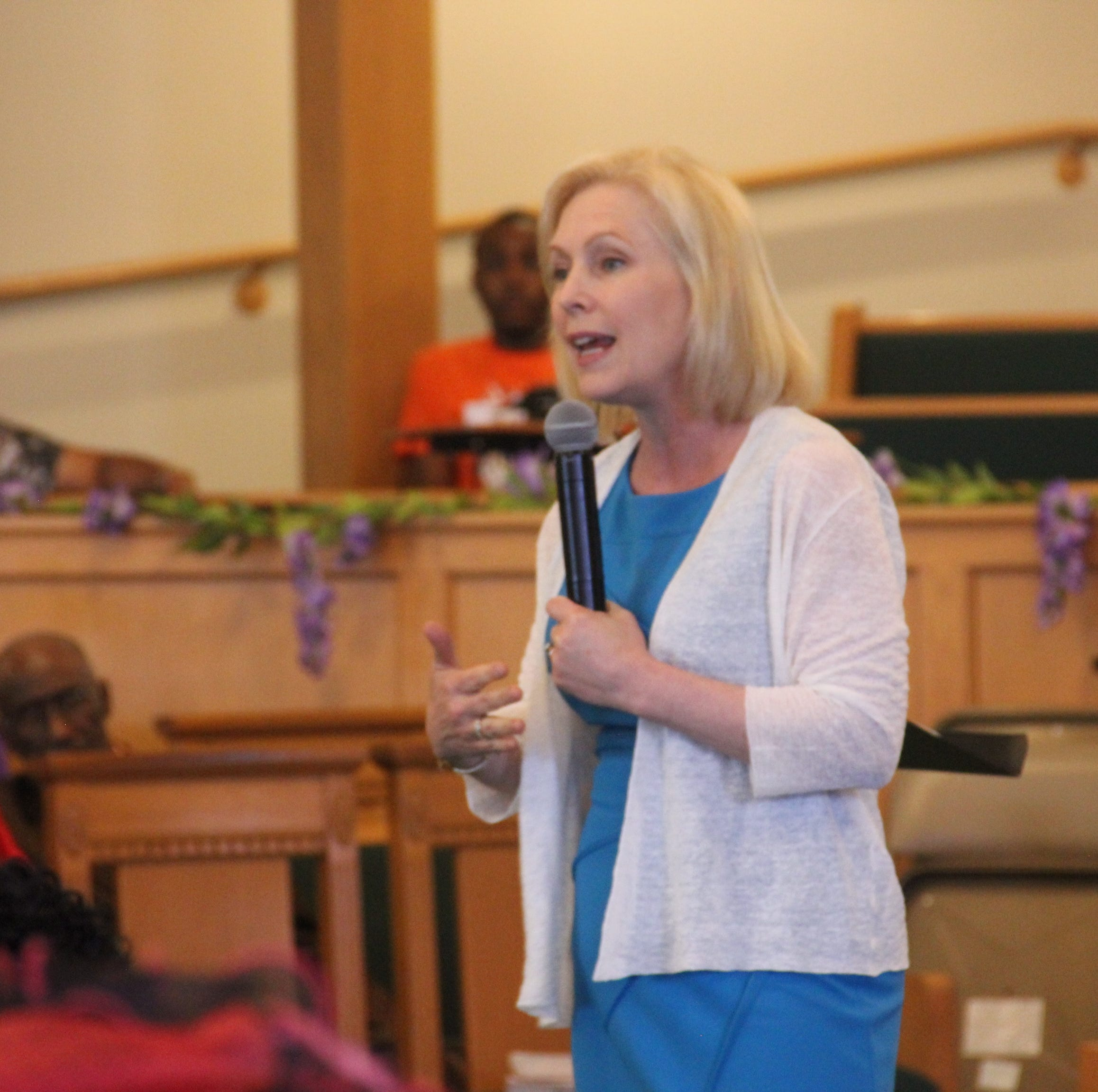 Kirsten Gillibrand at Iowa Baptist church preaches that Trump is 'contrary to the gospel'