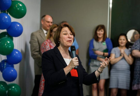 Sen. Amy Klobuchar, D-Minn. spent her birthday touring across Iowa as part of her presidential campaign before stopping at Jasper Winery in Des Moines, where she spoke to hundreds of supporters on Saturday, May 25, 2019.